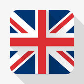 Simple flat icon Great Britain flag. Vector. — Stock Vector