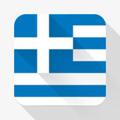 Simple flat icon Greece flag. Vector. — Vettoriale Stock