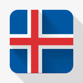 Simple flat icon Iceland flag. Vector. — Stock Vector