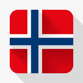 Simple flat icon Norway flag. Vector. — Stock Vector