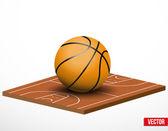 Bir basketbol oyun ve alan simgesi. — Stok Vektör