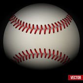 Background of baseball leather ball. Various sides. Vector. — Vector de stock
