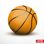 Basketball ball isolated on a white background — Stock Vector
