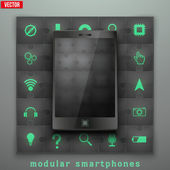 Concept of Modular smartphone. Background Illustation. — Stock Vector