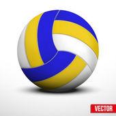 Volleybal in traditionele tricolor kleuren op witte achtergrond — Stockvector