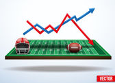 Concept of statistics about the game of football — Stock Vector