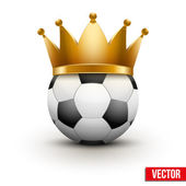 Soccer ball with royal crown — Stock Vector