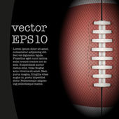 Dark Background of American Football ball. Vector Illustration. — Stock Vector