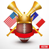 Announcement Sporting Poster with Football Ball. — Vector de stock