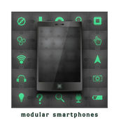 Concept of Modular smartphone. — Stock Photo