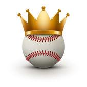 Baseball ball with royal crown — Stock Photo