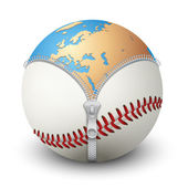 Planet Earth inside baseball ball — Stock Photo