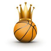 Basketball ball with royal crown of princess — Stock Photo