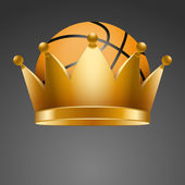 Background of Basketball ball with royal crown — Stock Photo