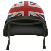 Military British flag helmet. Isolated on white background. Bitmap copy. — Stock Photo