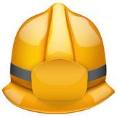 Gold fireman helmet. Isolated on white background. Bitmap copy. — Stock Photo