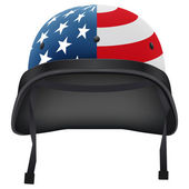 Military American helmet. Isolated on white background. Bitmap copy. — Stock Photo