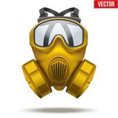 Yellow gas mask respirator. Vector Illustration. — Stock Vector
