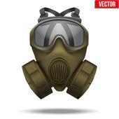 Khaki gas mask respirator. Vector Illustration. — Stock Vector