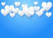 Background beautiful white heart. Vector Illustration — Stock Vector