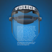 Background of Police protect mask. Vector Illustration. — Stock Vector