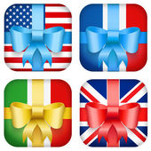 Zestaw wektor wzór krajowych prezent ikona internetowych i mobilnych — Wektor stockowy
