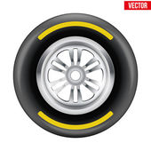 Vector Race wheel and tire symbol — ストックベクタ