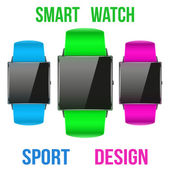 Smart design example sport wrist watch. — Stock Vector