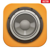 Realistic sound load Speaker icon.  Vector illustration. — Stock Vector