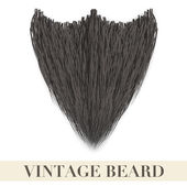Realistic Black beard. Vector Illustration — Stock Vector