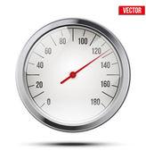 Classic round scale Speedometer. Vector Illustration. — Stock Vector