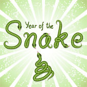 Cute snake (symbol of 2013 year) — Wektor stockowy