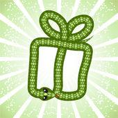 Cute snake (symbol of 2013 year) — Wektor stockowy
