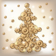 Royalty-Free Stock Vector Image: Mechanical Christmas tree