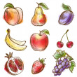 Set of fruits - Imagen vectorial