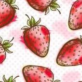 Seamless pattern with strawberry — Stock Vector