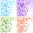 Set of decorative floral backgrounds - Stock Vector