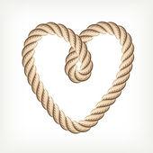 Rope heart — Stock Vector