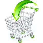Shopping cart — Stock vektor