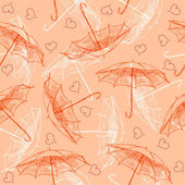 Seamless pattern with umbrellas — Stock Vector