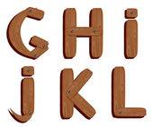 Ahşap alfabe — Stok Vektör