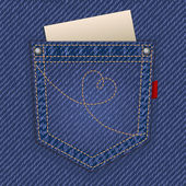 Jeans pocket — Vetorial Stock