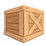 dřevěný box — Stock vektor