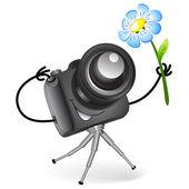 Gira câmera — Vetor de Stock