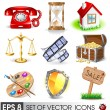 Set of vector icons — Stockvektor