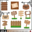Royalty-Free Stock Vector Image: Set of vintage wooden sigboards