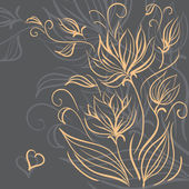 Decorative floral background — Vecteur