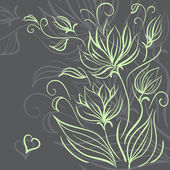 Decorative floral background — Vector de stock