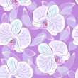 Seamless floral pattern orchids — Stock Vector #16301603