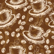 Stock Vector: Coffee seamless pattern